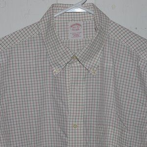 Brooks brothers dress mens shirt size 17 1/2 J900